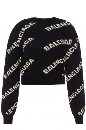 Sweater with an embroidered logo od Balenciaga