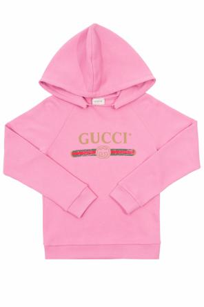 Sweatshirt with a print and logo` od Gucci Kids