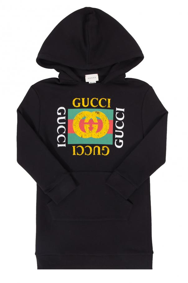 Gucci Kids Sweatshirt dress with a logo