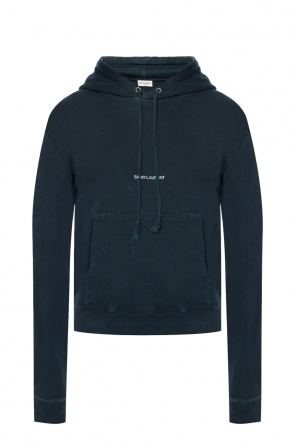 Distressed hooded sweatshirt od Saint Laurent