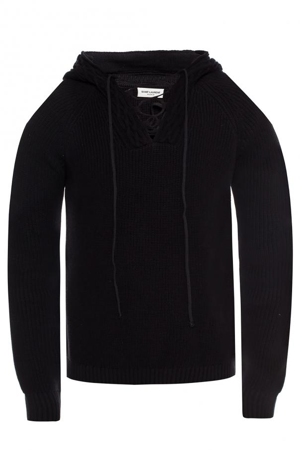 d179dcfa92899 Hooded knit sweater Saint Laurent - Vitkac shop online