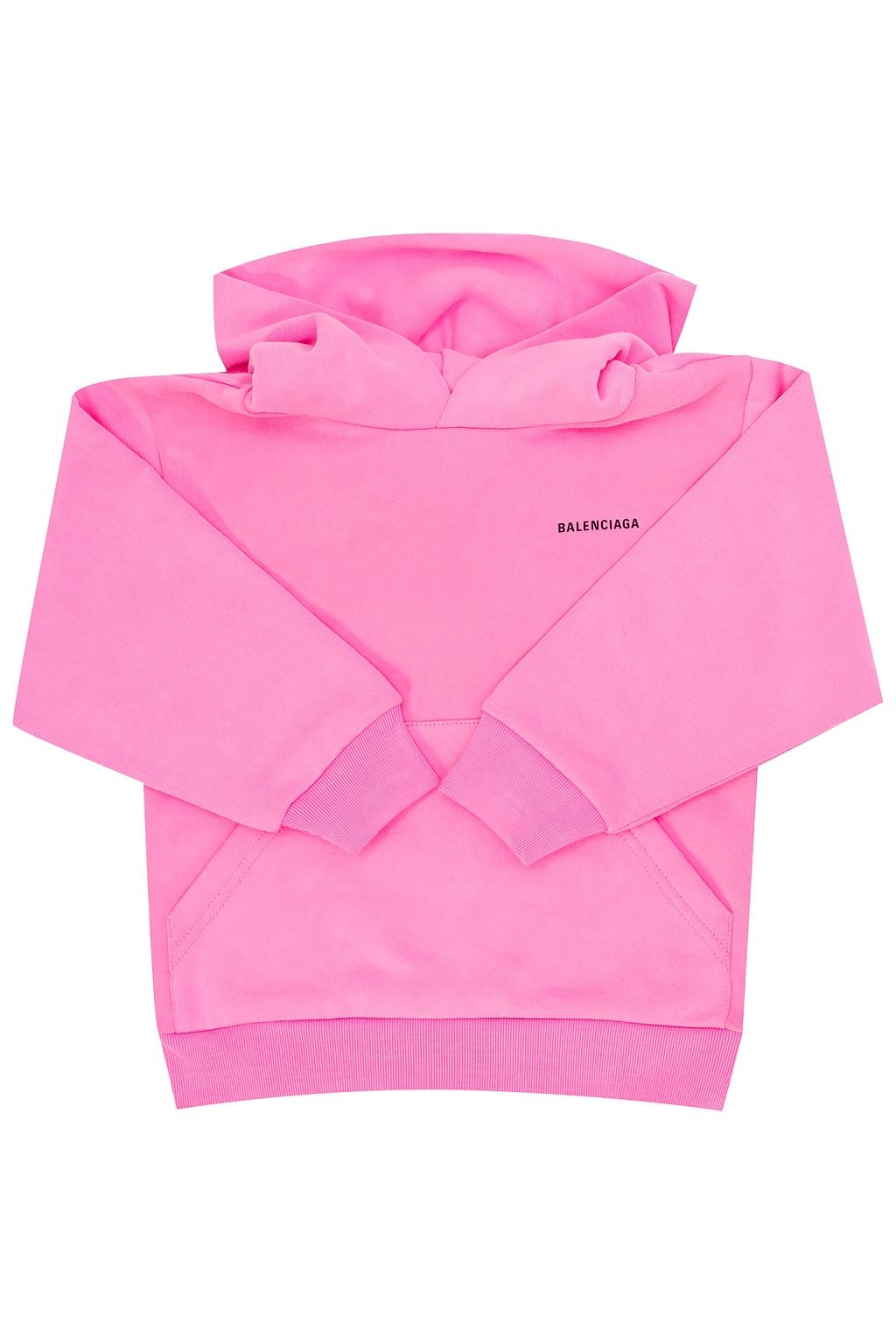 Balenciaga Kids 品牌连帽运动衫