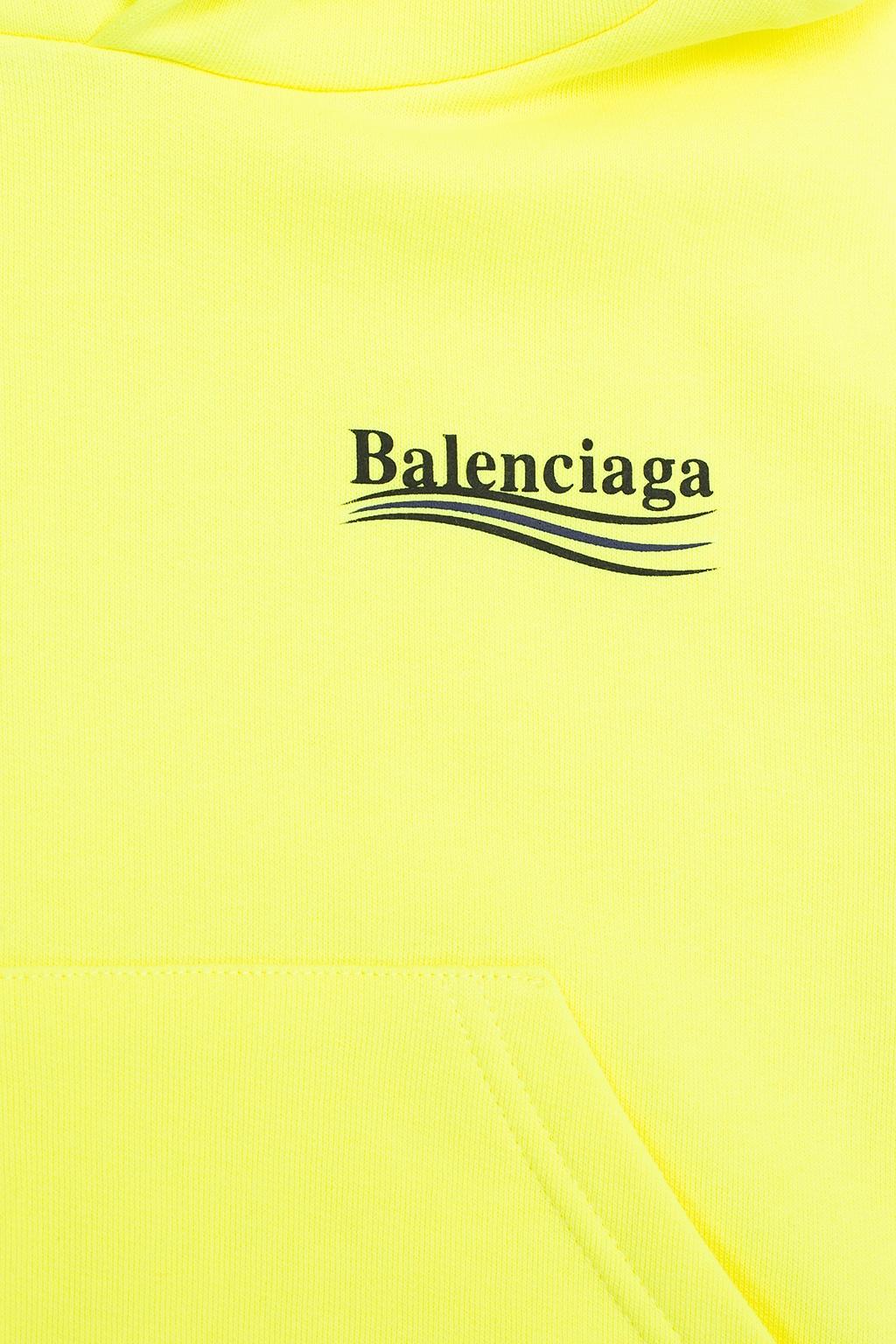 Balenciaga Kids 品牌标识饰连帽运动衫