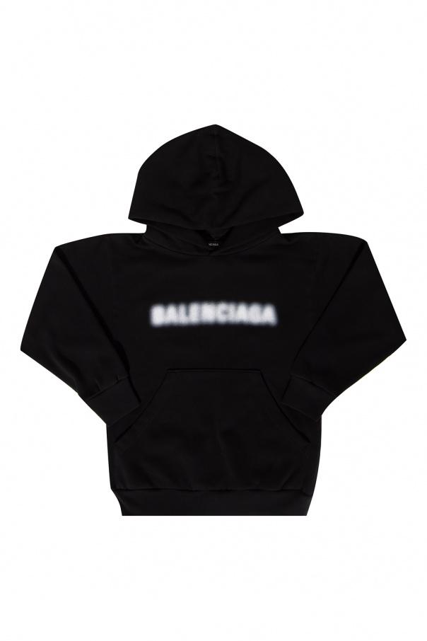 Balenciaga Kids Logo-printed hoodie