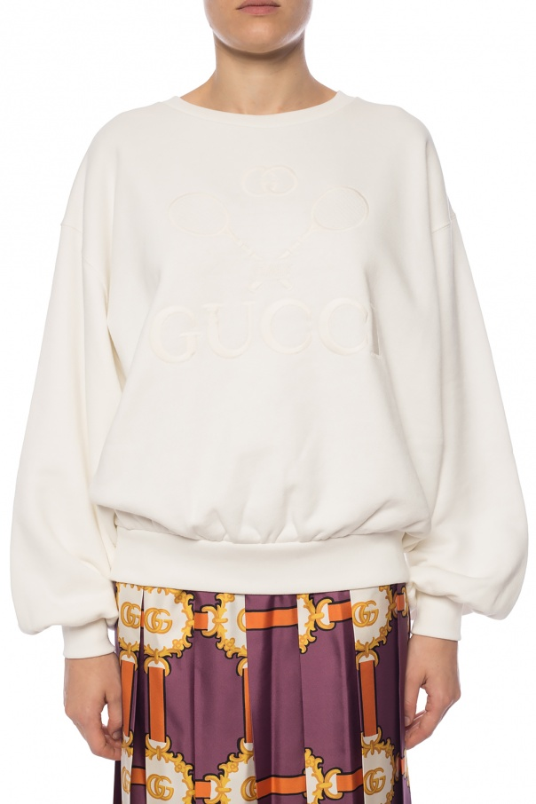 Logo-embroidered sweatshirt od Gucci