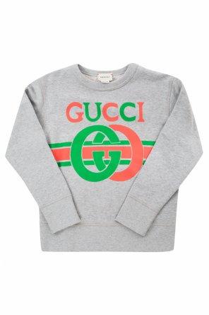 410135b3518f ... Logo-printed sweatshirt od Gucci Kids