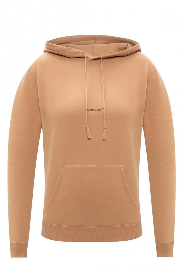 Saint Laurent Logo-printed hoodie