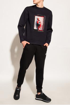 Embroidered sweatshirt od Emporio Armani