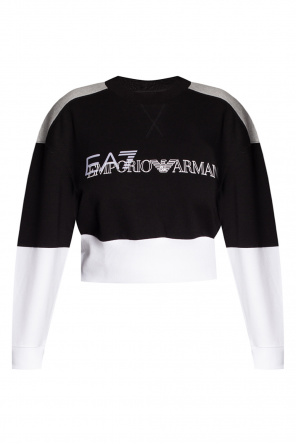 Cropped sweatshirt with logo od EA7 Emporio Armani