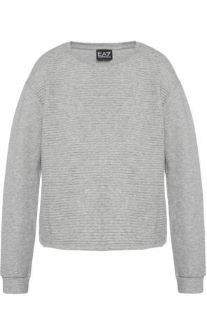 Ribbed sweatshirt with drawstrings od EA7 Emporio Armani
