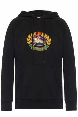Logo-embroidered sweatshirt od Burberry