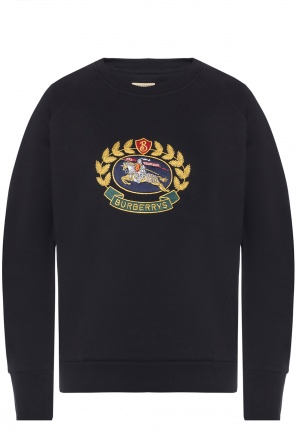 Sweatshirt with an embroidered logo od Burberry