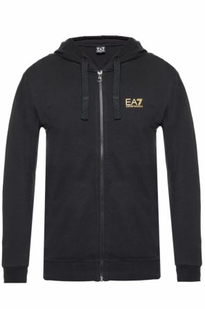 Logo-printed hoodie od EA7 Emporio Armani