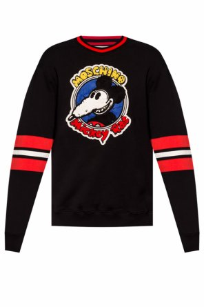 'mickey rat' motif sweatshirt od Moschino