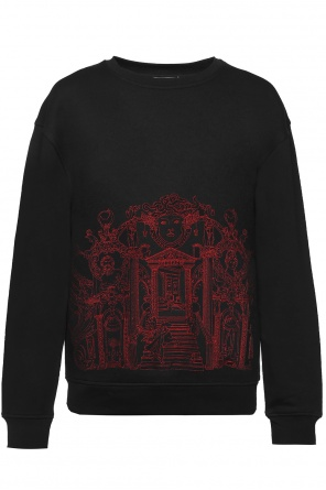 Embroidered sweatshirt od Versace