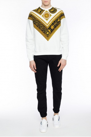 Sweatshirt with baroque motif od Versace