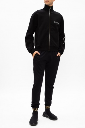 Hoodie with lettering od Versace