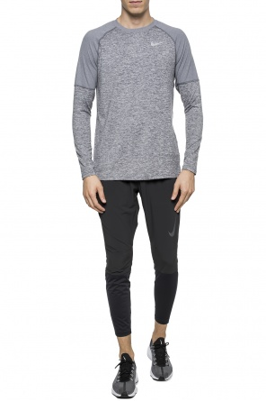 Long-sleeved top with a printed logo od Nike