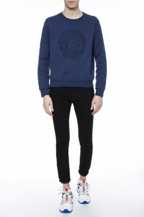 Embroidered medusa head sweatshirt od Versace