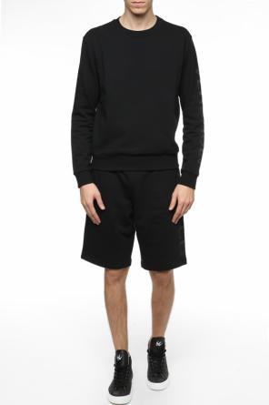 Sweatshirt with logo at sleeve od Versace