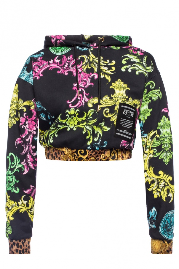 d3a44adc8 Patterned cropped sweatshirt Versace Jeans Couture - Vitkac shop online
