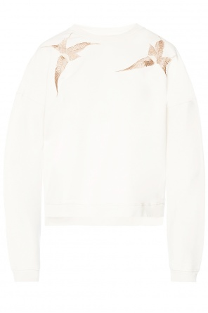 'birds' sweatshirt with embroidered pattern od AllSaints