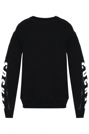 Sweatshirt with zips at sleeves od Versace Versus