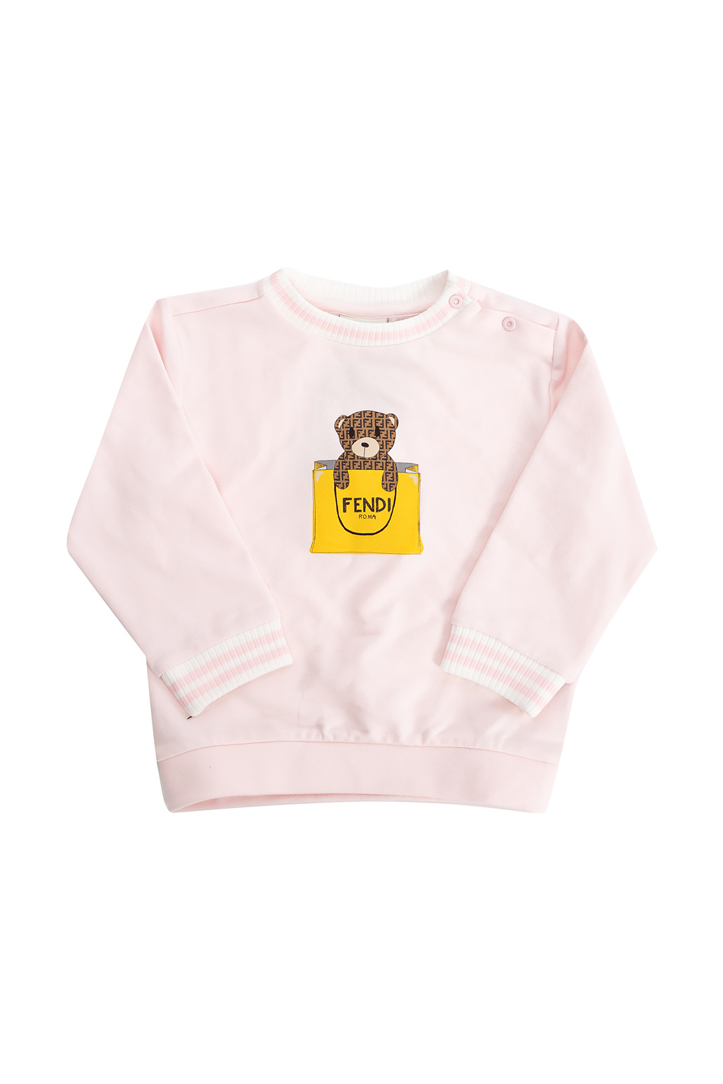 Fendi Kids Bluza z nadrukiem