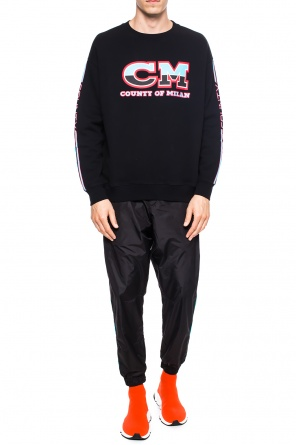 Sweatshirt with lettering od Marcelo Burlon