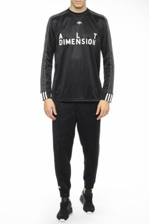 Logo-embroidered sweatshirt od Adidas by Alexander Wang
