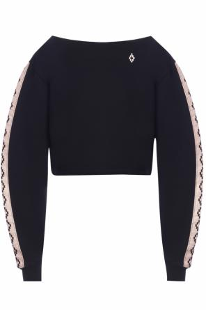 Cropped sweatshirt with logo od Marcelo Burlon