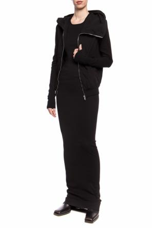 Asymmetrical hooded sweatshirt od Rick Owens DRKSHDW