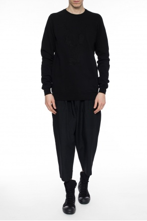 Sweatshirt with embroidered pattern od Rick Owens DRKSHDW