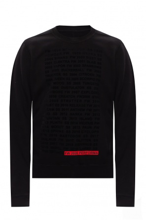 Sweatshirt with velvet appliqué od Rick Owens DRKSHDW