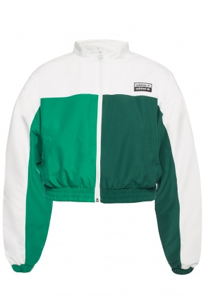 Cropped jacket with band collar od ADIDAS Originals
