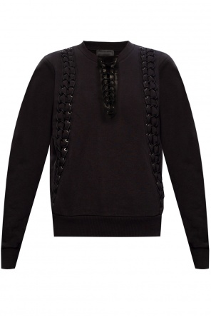 Sweatshirt w/ lace-up detailing od Diesel