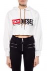 Diesel Cropped asymmetrical sweatshirt
