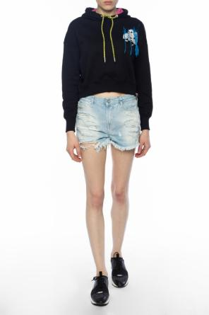 Embroidered cropped sweatshirt od Diesel