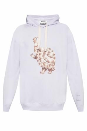 Sweatshirt with a turtle motif od Acne