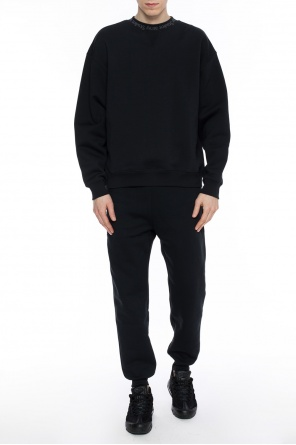 Embroidered logo sweatshirt od Acne