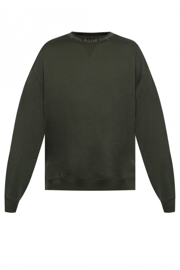 Logo Embroidered Sweatshirt by Acne