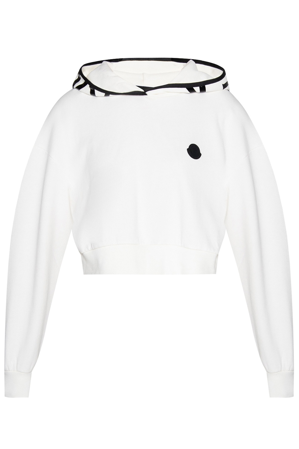 Moncler 'O' Cropped hoodie with logo