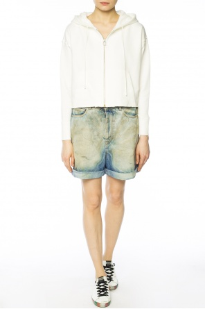 Embroidered cropped sweatshirt od Golden Goose