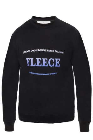 Sweatshirt with a printed inscription and logo od Golden Goose