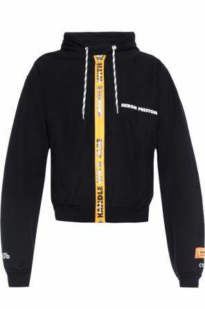 Hooded logo sweatshirt od Heron Preston