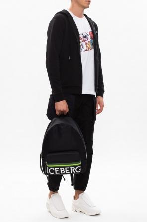 图案连帽运动衫 od Iceberg