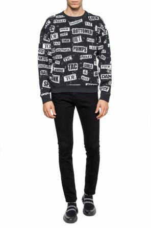 Sweatshirt with a printed logo od Moschino