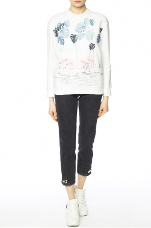 Embroidered flamingos sweatshirt od Victoria Victoria Beckham