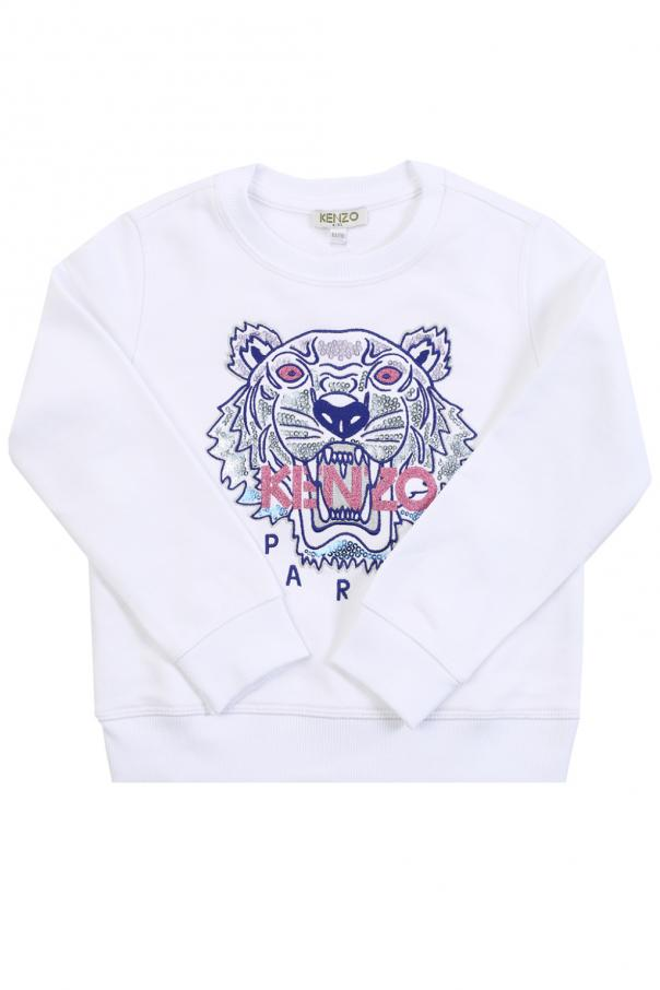 174b5c19 Tiger head-embroidered sweatshirt Kenzo Kids - Vitkac shop online