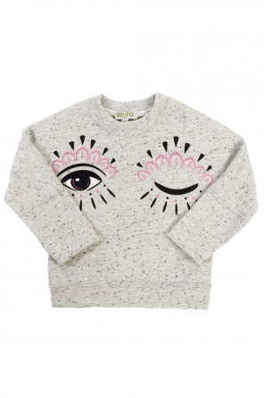 Patterned sweatshirt with print od Kenzo Kids